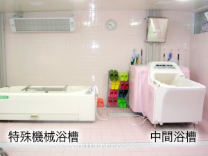 浴室(中間浴槽と特殊機械浴槽)